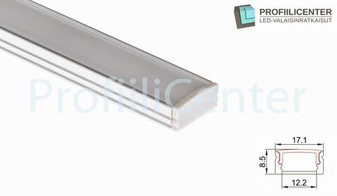 LED-alumiiniprofiili ALU01, 2 m