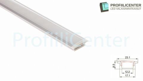 LED-alumiiniprofiili ALU03, 2 m