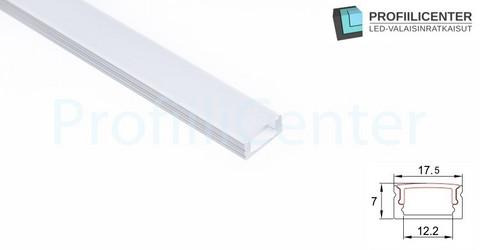 LED-alumiiniprofiili ALU01W, 1 m