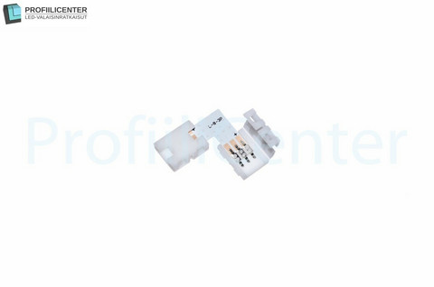 LED-liitin 10 mm, kulmapala (3-pin)