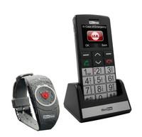 Maxcom MM715BB matkapuhelin SOS-turvarannekkeella