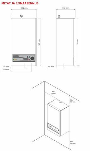 Sähkökattila 9 kW seinämalli