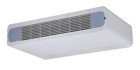 Puhallinkonvektori Lattiamalli / Kattopintamalli. 2-putkinen CH-FFC035K2 jäähdytys / lämmityskäyttöön Teho 3,27 / 4,58 kW