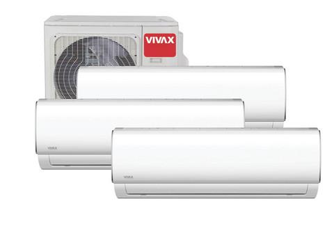 Vivax ilmalämpöpumppu 3 sisäyksiköllä, M-malli, 7,8 kW
