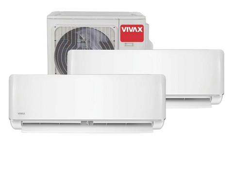 Vivax ilmalämpöpumppu 2 sisäyksiköllä, 09 & 12, R-malli, 5,6 kW