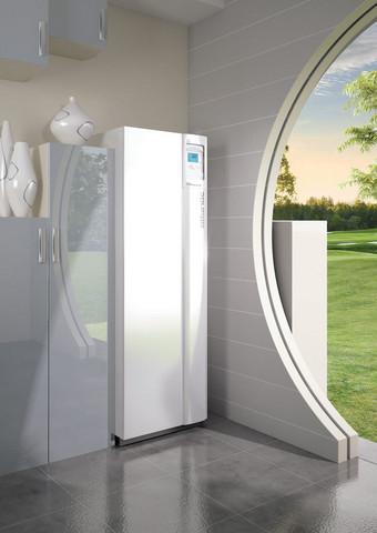 Hybrid Duo Gas 11  Ilmavesilämpöpumppu 24 kW kaasukondenssikattilalla, sisä- ja ulkoyksikkö