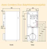 Kondenssiöljykattila Atlantic Axeo Condens DUO 5025 käyttövesivaraajalla