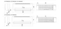 CH-FW030K2 Puhallinkonvektori, Integroitu 3-tieventtiili, Seinämalli