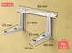 Seinäteline MS253 lämpöpumpun asennukseen L800xW465 mm, 140kg
