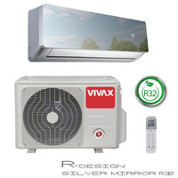 Ilmalämpöpumppu Vivax R-DESIGN 3,81kW, tumma peili