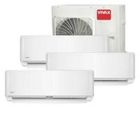 Vivax ilmalämpöpumppu 3 sisäyksiköllä, R-malli, 8,5 kW