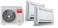 Vivax ilmalämpöpumppu 2 sisäyksiköllä, lattiamalli-malli, 6,1 kW