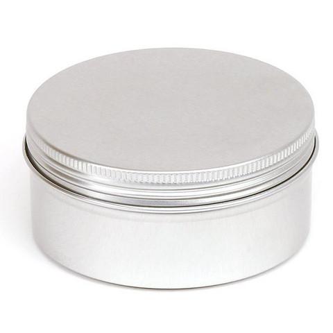 150 ml metallipurkki, hopeanvärinen