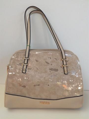 Käsilaukku vaalea beige/hopeakuvio