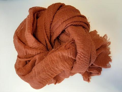 Huivi, ruskea oranssi