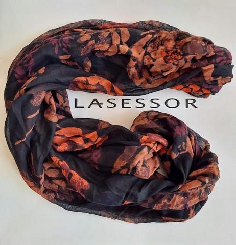 Lasessor tuubihuivi (pioni/ruskea)