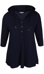 Zhenzi T-paita huppari 3/4 osa tamppihihoilla. Roosa ja tummansininen.