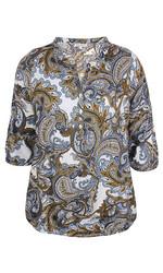 Zhenzi kaunis ornamenttikuvioinen paita joustavalla kuminauha helmalla