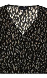 Ze-Ze kaunis pusero leopardikuviolla ja V-pääntiellä