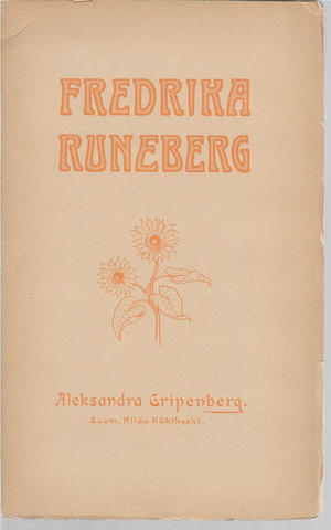 Gripenberg, Aleksandra: Fredrika Runeberg