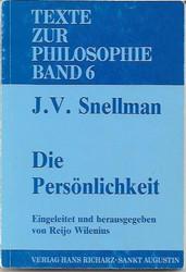Snellman, J.V.: Die Persönlichkeit