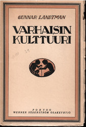 Landtman, Gunnar: Varhaisin kulttuuri