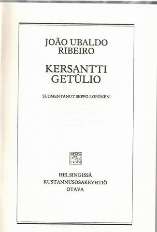 Ribeiro, João Ubaldo: Kersantti Getúlio