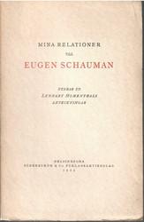 Hohenthal, Lennart:  Mina relationer till Eugen Schauman : utdrag ur Lennart Hohenthals anteckningar