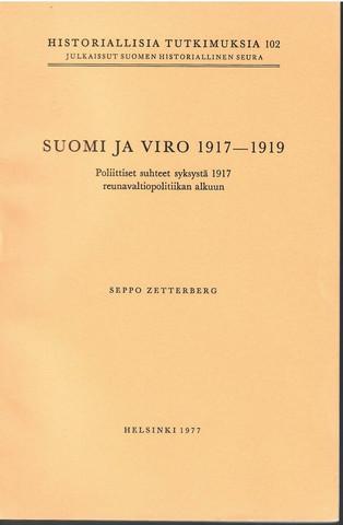 Zetterberg, Seppo: Suomi ja Viro 1917-1919