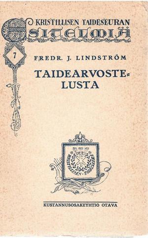 Lindström, Fredr. J.: Taidearvostelusta