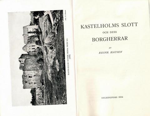 Hausen, Reinhold: Kastelholms slott och dess borgherrar
