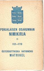 Åström, Aven-Erik (toim.): Pohjalaisen osakunnan nimikirja II 1721-1770