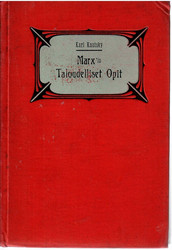 Kautsky, Karl: Karl Marxin taloudelliset opit
