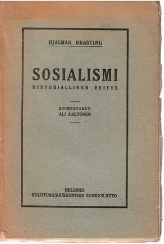 Branting, Hjalmar: Sosialismi : historiallinen esitys