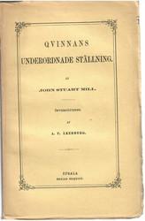 Mill, John Stuart: Qvinnans underordnade ställning