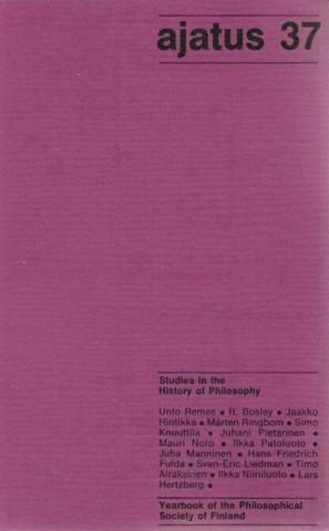 Manninen, Juha (toim.): Ajatus 37 : filosofisen yhdistyksen vuosikirja