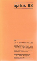 Pihlström, Sami (päätoim.): Ajatus 63 - Suomen Filosofisen Yhdistyksen vuosikirja