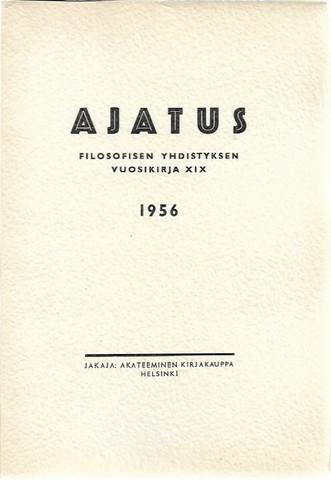 Ajatus XIX - Filosofisen yhdistyksen vuosikirja 19