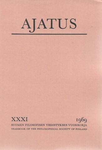 Ajatus 31 : Filosofisen yhdistyksen vuosikirja (Ajatus XXXI)