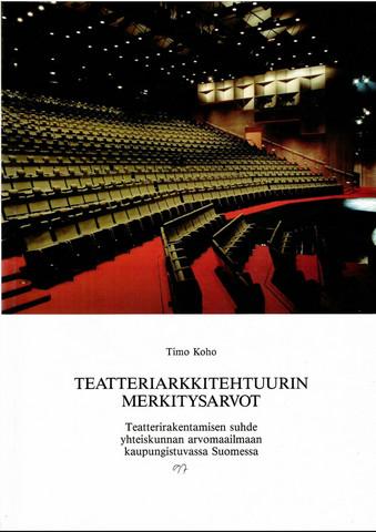 Koho, Timo: Teatteriarkkitehtuurin merkitysarvot