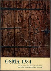 Osma 1954 : Suomen museoliiton vuosikirja