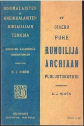 Cicero, Marcus Tullius: Puhe runoilija Archiaan puolustukseksi