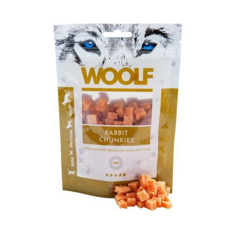 Woolf Rabbit Chunkies - Kani kuutiot 100 g