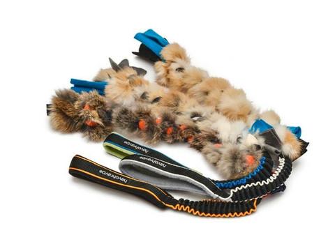 Fleecelelu kaninkarvalla 40cm + joustokahvalla