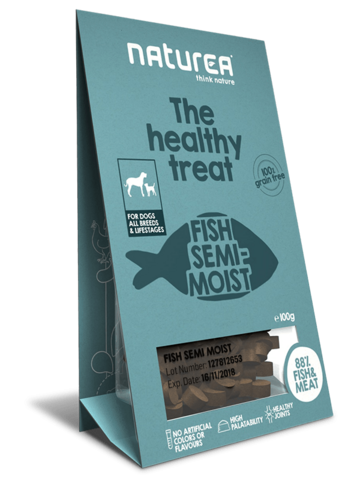Naturea Treats Dog - Kala (puolikostea)