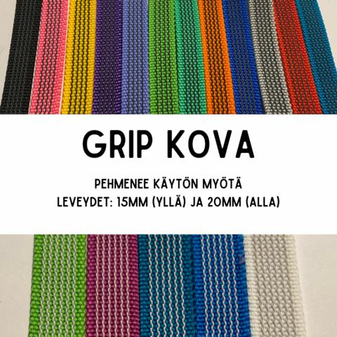 GRIP-hihna, pituus 1,5m (lev. 15 & 20mm / materiaali: kova)