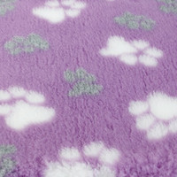 Foxy Fur -makuualusta 100x75cm, lila tassu