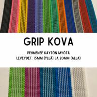GRIP-hihna, pituus: 3m (lev. 15 & 20mm / materiaali: kova)