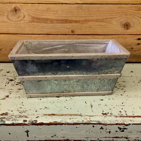 Sinkkiruukku puusomistein, muovitettu