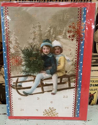 Minijoulukalenteri, nostalginen joulukortti